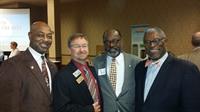 LEADERSHIP: Mayor Ross Blue Springs;  Mayor Matt Mallison,  Sugar Creek;  Bill Preston, PRMC;  Mayor Sly James, Kansas City, MO