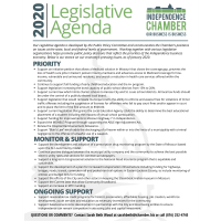 2020 Independence Chamber Legislative Agenda