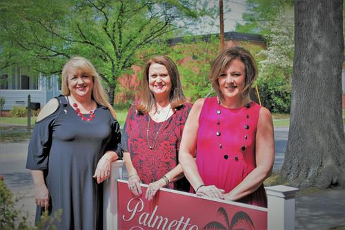 Palmetto Realty established February 2017.. Sherri Goode REALTOR®, Sandy Gaskins REALTOR® Broker/ Owner, Angie Stanley Administrative Asistant