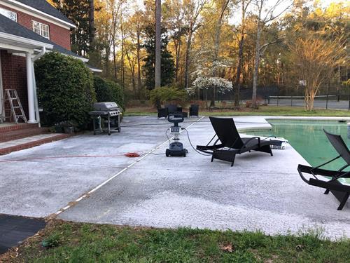 Pool Patio Before