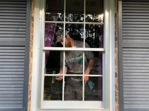 Small Pane Window Cleaning