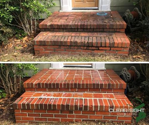 Brick Steps Before/After