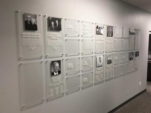 Donor wall, Single Parent Scholarship Fund