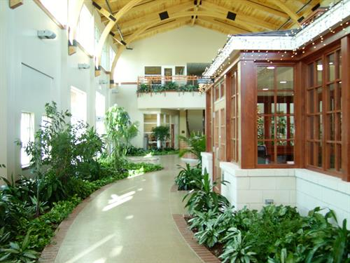Atrium Area of Hospice Home in Springdale