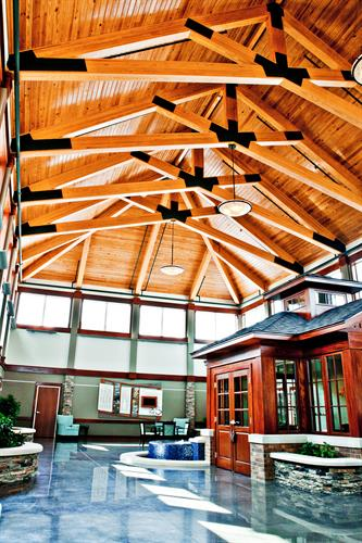 Atrium Area of Hospice Home in Bentonville