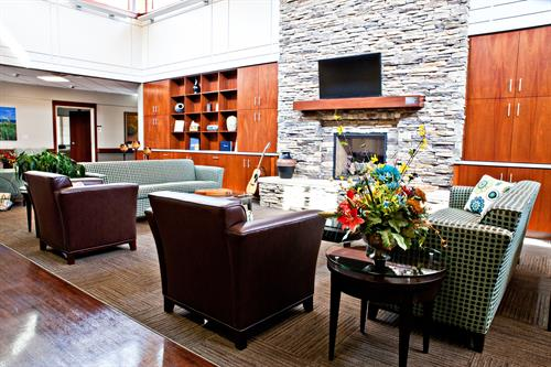Living Room Area of Hospice Home