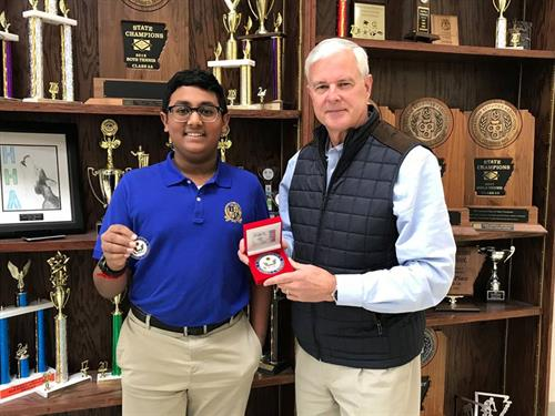 A Haas Hall Academy Bentonville eight-grade scholar wins the 2018 Congressional App Challenge with the development of Insectionary.