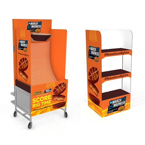 Event Cart and Merchandiser Hutch for Reese's March Madness (Walmart)