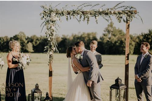 Wedding on front patio