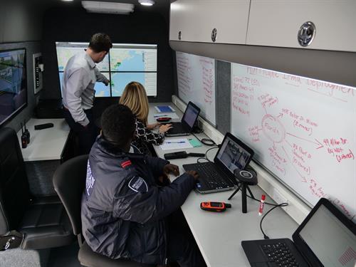 Inside Brosnan's Mobile Command Center