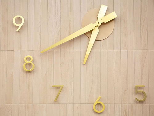 Custom Clock from NYC Renovation of Non-Profit Clubhouse for people with severe mental illness