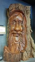Hand-Carved Bark Figure