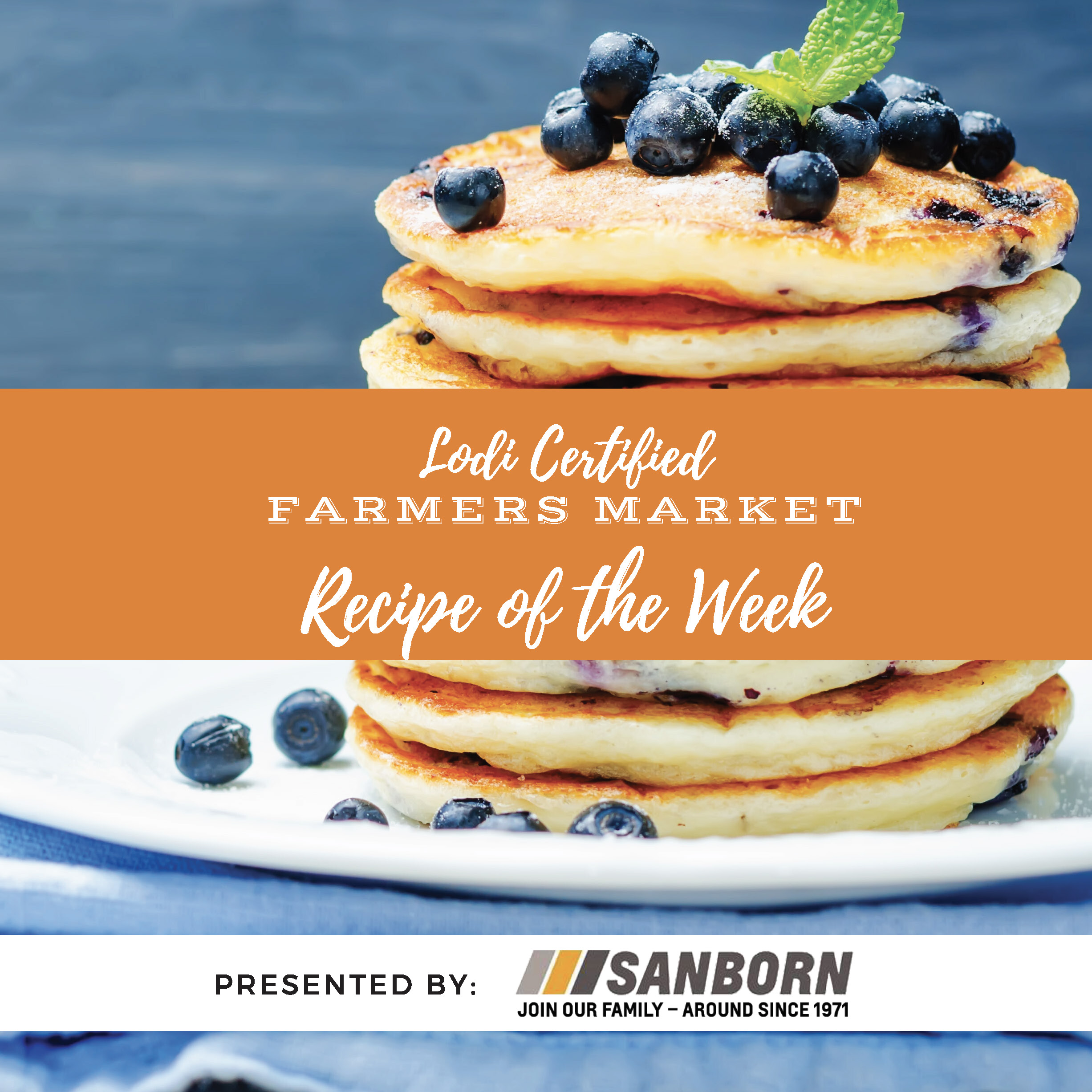 Recipe of the Week- Lemon Ricotta Pancakes with Blueberry Syrup