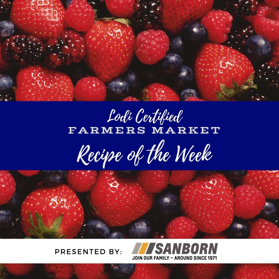 Recipe of the Week - Mixed Berry Cornmeal Cobbler