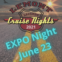 2021 EXPO night June 23 at Lemont Legends Cruise Night