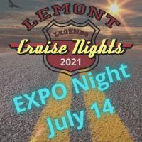 2021 EXPO night July 14 at Lemont Legends Cruise Night