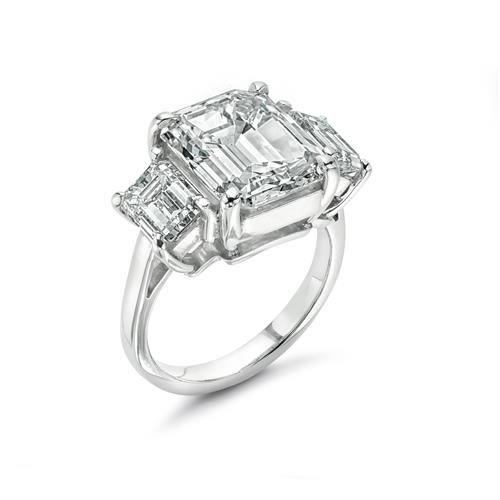 5.08 Emerald Cut Diamond Ring