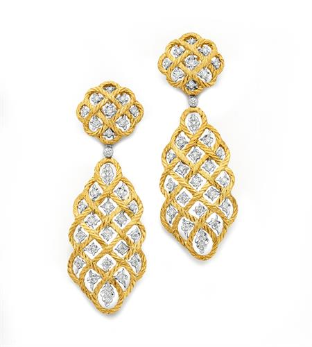 Buccellati Diamond Drop Earrings