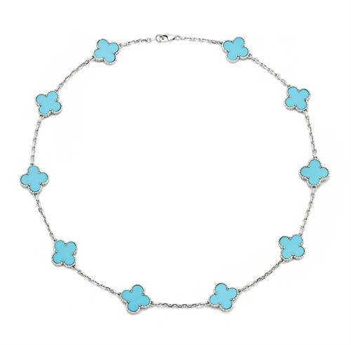 Van Cleef and Arpels Turquoise Alhambra Necklace