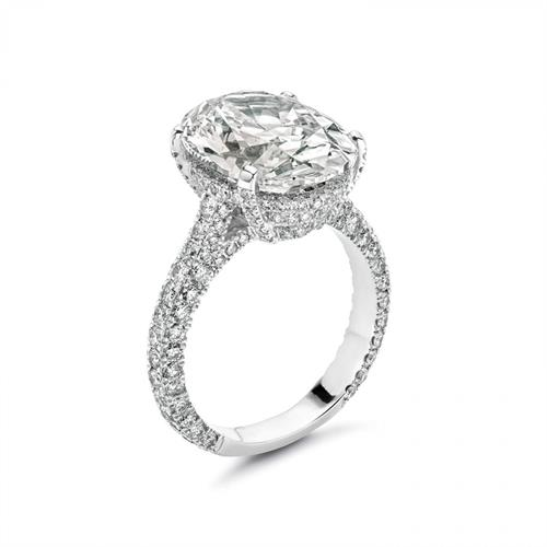 9.43CT Oval Diamond Engagement RIng