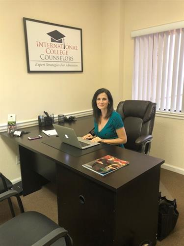 Donna Barron-Willey in the International College Counselors office