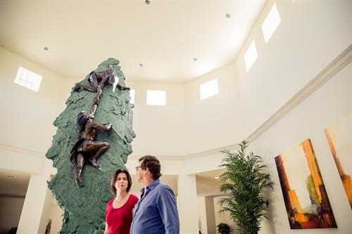 Futures of Palm Beach Lobby and Days of Ascent Statue