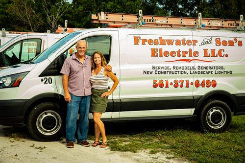 Owners, Mark & Katie Freshwater