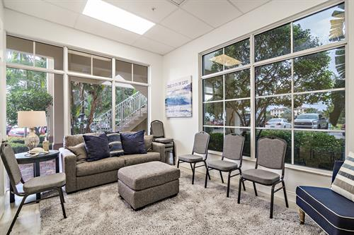 Therapy group room at Remedy Therapy