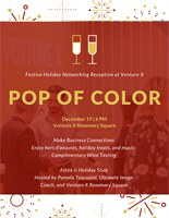 Pop of Color Holiday Celebration