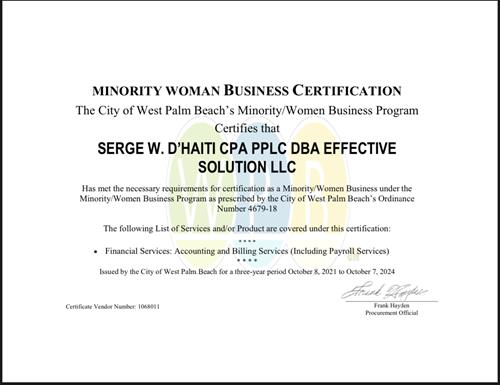 Minority Owned Small Business Owner
