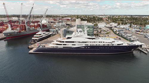 Port of Palm Beach's megayacht berth
