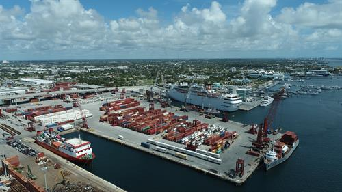 Drone view of the Port