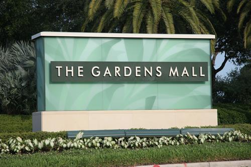 The Gardens Mall Monument Sign