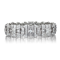 Platinum and Diamond Deco Bracelet
