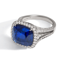 Heritage Platinum and Sapphire Ring
