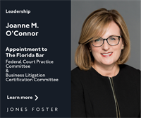Joanne M. O'Connor to Serve on Two Florida Bar Committees