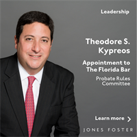 Theodore S. Kypreos Reappointed to The Florida Bar Probate Rules Committee