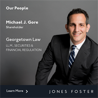 Michael J. Gore Receives LL.M. from Georgetown University