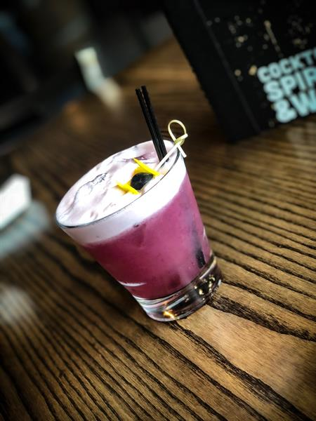 Seasonal Cocktails...Blueberry Gin Sour
