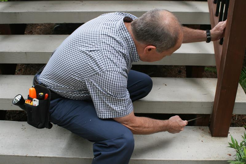 Checking decks and balconies for deterioration and safety
