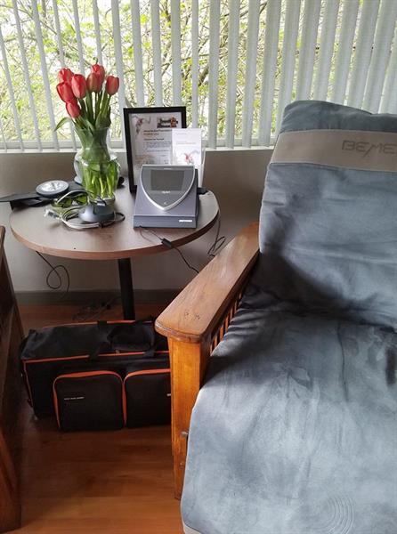 Bemer mat on a chair