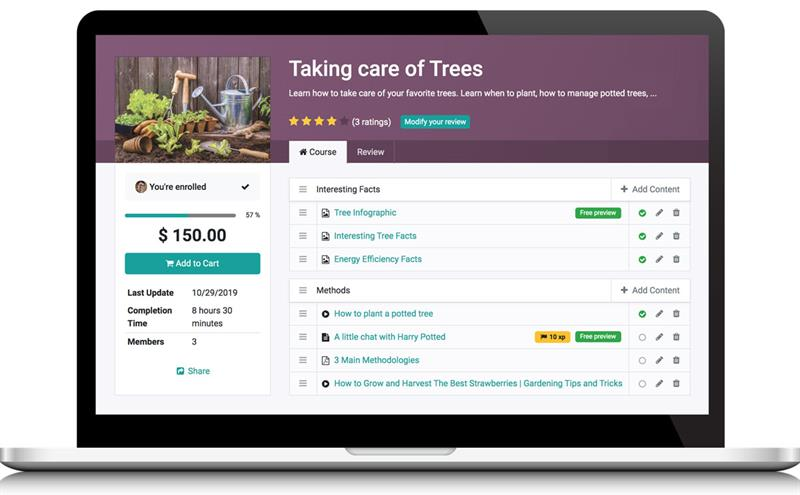 eLearning modules to create courses