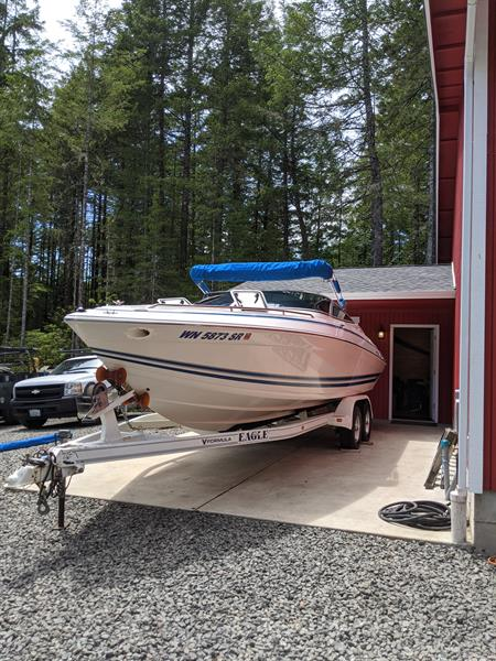 Boat exterior washed and waxed and interior detailed