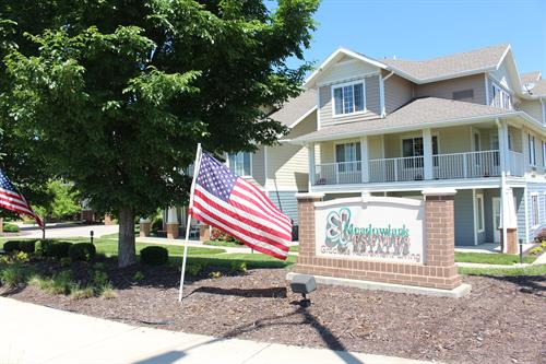 Welcome to Meadowlark Estates - front entrance