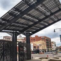 10kW Solar Awning. Westar Pocket Park - Topeka, Kansas