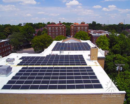 88kW Commercial SunPower Solar Array - Central Presbyterian Kansas City Missouri