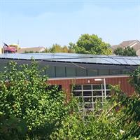 100kW Solar PV Array. Firestation Number 5 - Lawrence, Kansas