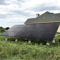 5.025kW Residential Ground Mount SunPower Solar Array. Louisburg, Kansas