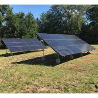 8.175kW Residential Ground Mount SunPower Solar Array. Baldwin City, Kansas