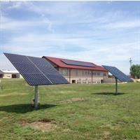 14.4kW Solar Array including Roof Mount and 2 Trackers. Flint Hills Technical College - Emporia, Kansas